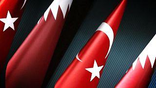 Türkiye Katar bayrakları (arşiv)