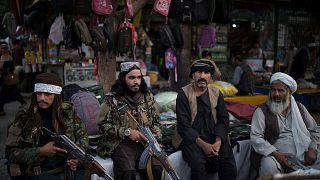 جنگجویان طالبان در بازار کابل