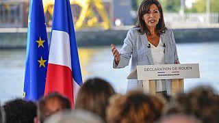 La alcaldesa de París y candidata a la presidencia de Francia, Anne Hidalgo