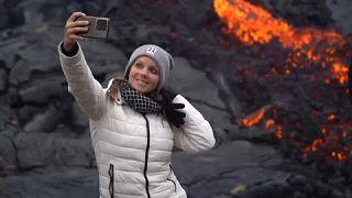 EBU/ Un 'selfie' con la lava