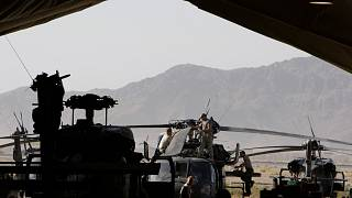 Afganistan ordusuna ait helikopterler