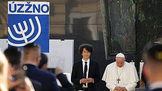 El Papa Francisco durante su encuentro con la comunidad judía eslovaca