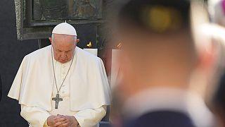 El papa Francisco durante su encuentro con la comunidad judía de Eslovaquia