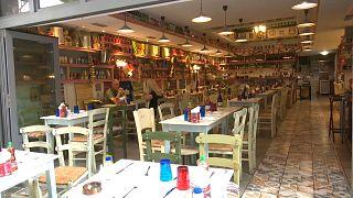 Leeres Restaurant in Athen