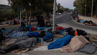 عکس آرشیوی از پناهجویان در جزیره لزبوس یونان