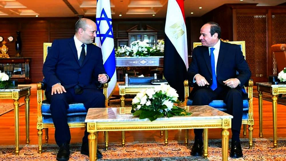 Tíz éve nem beszélt egymássl izraeli és egyiptomi elnök