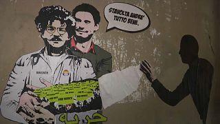 Murales dedicato a Patrick Zaki