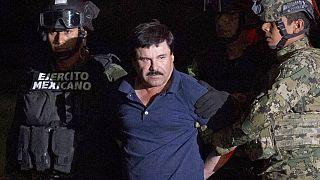 """Uyuşturucu baronu """"El Chapo"""", Meksika'daki maksimum güvenlikli bir hapishaneden firar ettikten sonra yeniden yakalandı. 8 Ocak 2016"""
