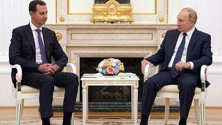 لقاء الرئيس الروسي فلاديمير بوتين مع نظيره السوري بشار الأسد في موسكو. 2021/09/13