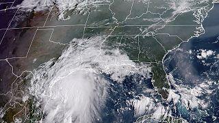 L'ouragan Nicholas sur le Texas