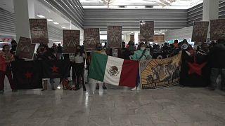 Zapatistas en el aeropuerto de Ciudad de México, 13/9/2021
