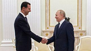 دیدار اعلام نشده ولادیمیر پوتین و بشار اسد در مسکو