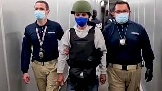 El exguerrillero del ELN Luis Jhon Castro Ramírez, alias el Zarco, a su llegada a Bogotá (Colombia)