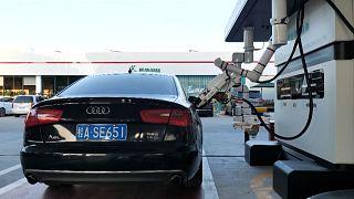 Κίνα: Ρομπότ σε πρατήριο καυσίμων