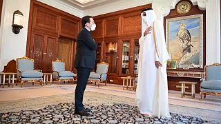 El emir de Catar recibió al ministro de Exteriores de España