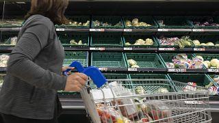 Leerer Supermarkt in Manchester