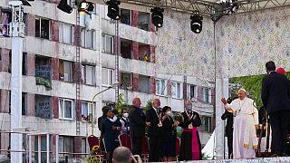 Romákkal találkozott a pápa Szlovákiában