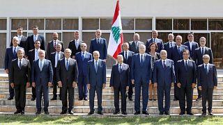 تشكيل حكومة جديدة في القصر الجمهوري في بعبدا، شرقي العاصمة بيروت،  في 13 سبتمبر/أيلول 2021