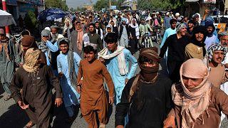 تظاهرات در قندهار افغانستان