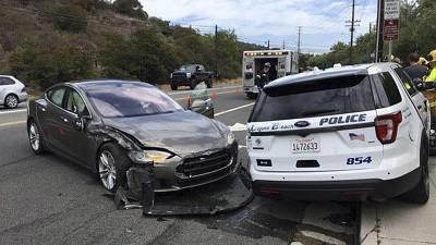 A Tesla that hit a parked police car in California in 2018 is one of the Autopilot accidents under investigation