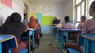 یک دبستان خصوصی در کابل