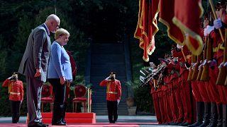 German Chancellor Angela Merkel & Albania's Prime Minister Edi Rama