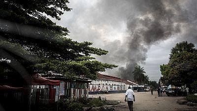RDC : un incendie réduit un bâtiment en cendres à Bukavu
