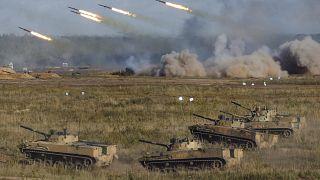 Военные учения «Запад-2021» на полигоне Мулино в Нижегородской области 11 сентября 2021