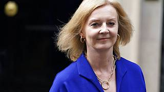 Britain's new Foreign Secretary Liz Truss leaves 10 Downing Street, in London, Wednesday, Sept. 15, 2021, after being confirmed as the UK's new foreign secretary.