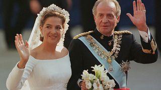 Spain's former King Juan Carlos I pictured alongside Princess Cristina in October 1997.