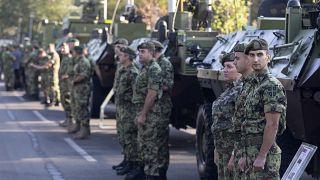قوات تابعة  للجيش الصربي في بلغراد، الأربعاء 15 سبتمبر 2021