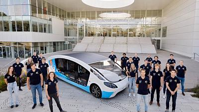 The Solar Team Eindhoven with their newest creation, Stella Vita.