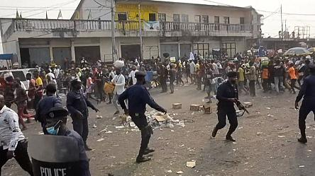 Opposition demonstration banned by authorities in Kinshasa suppressed by police