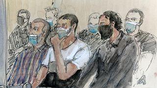 رسم لعبد السلام وبقية المتهمين في القضية