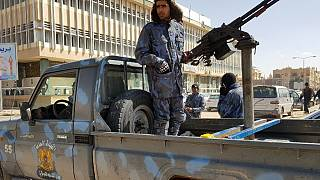 Halife Hafter'e bağlı güçler Libya'nın güneyindeki Sebha'da devriye geziyor (arşiv)