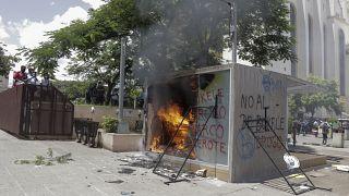 آتش زدن دستگاه خودپرداز ارز دیجیتال السالوادور