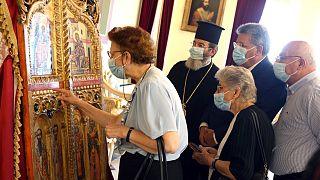 Japonya'dan geri alınan Rum Ortodoks kilisesine ait kapılar