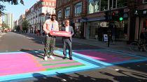 London Mayor unveils series of colourful road crossings