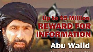 Imagen de la busca y captura, con recompensa por Adnan Abu Walid al Sahraoui