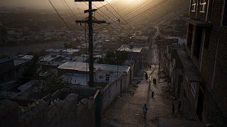 Afganistan'ın başkenti Kabil'de bir mahalle
