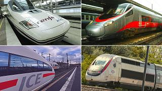 Les trains à grande vitesse en France, en Allemagne, en Espagne et en Italie