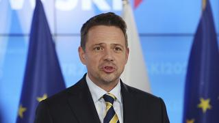 Rafal Trzaskowski elismeri vereségét a lengyel elnökválasztáson 2020. július 13-án