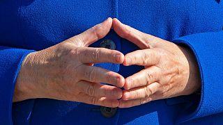 ژست معروف دستان آنگلا مرکل، صدراعظم آلمان