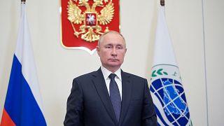 الرئيس الروسي فلاديمير بوتين في اجتماع منظمة شنغهاي للتعاون