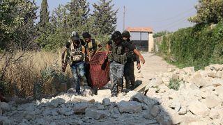IŞİD ile çarpışan Suriye güçleri (Arşiv)