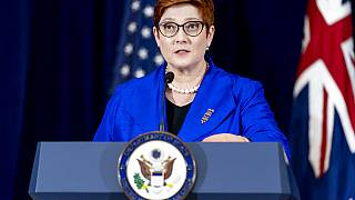 Australian foreign minister Marise Payne speaks after the agreement was announced on September 16