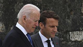 Joe Biden és Emmanuel Macron 2021 nyarán (illusztráció)