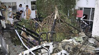 خانه زماری احمدی پس از حمله پهپادی نیروهای نظامی آمریکا