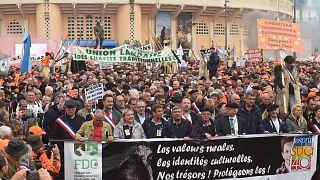 تظاهرات شکارچیان در فرانسه