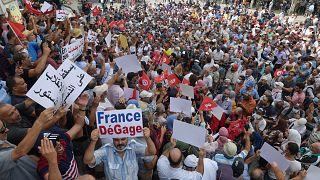 مظاهرة مناهضة للرئيس قيس سعيد في تونس